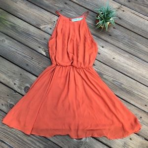 Francescas's Orange Dress Size Small